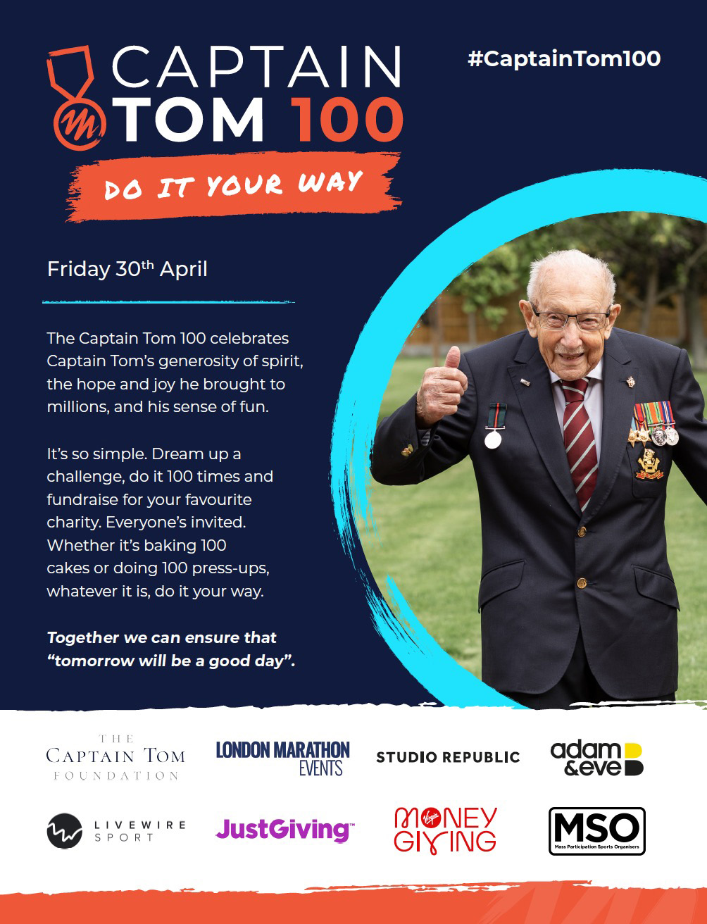 Take Part in the Captain Tom 100 Challenge